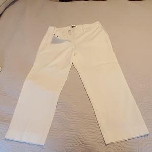 NWT Ann Taylor white crop pants